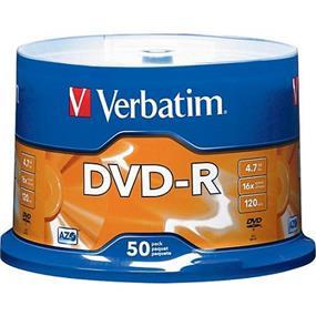 Verbatim DVD-R 16X 4.7GB Spindle 50 Packs (95101)
