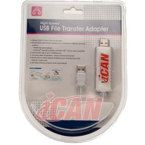 iCAN USB2 PC-Mac File Transfer Cable(Win Vista, 7, 8 & Mac OS) (USB2-FT-PCMAC)