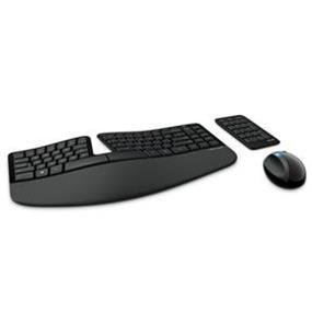 Microsoft (L5V-00002) Wireless Sculpt Ergonomic Desktop Combo w/ Mini USB Receiver - Black