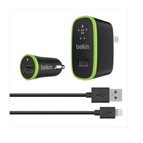 Belkin Charger Kit with Lightning to USB Cable (10 Watt/2.1 Amp Each)