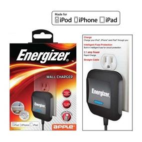 Energizer 2.1A Apple Lightning Wall Charger For iPod, iPhone & iPad