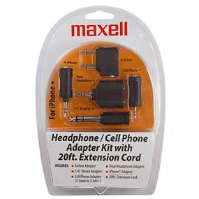 Maxell Headphone/Cell Phone Adapter Kit with 20ft Extension Cord
