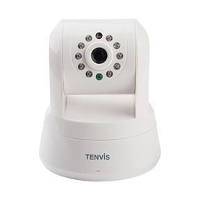 TENVIS IProbot3, HD Wireless day / night IP Camera, Pan & Tilt control, Smartphone view, White color