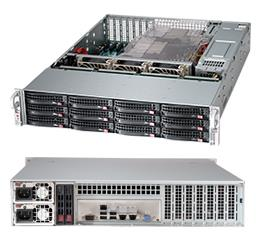 Supermicro SuperChasis CSE-826BE26-R920LPB Blade Server Cabinet - Rack-mountable - Black - 2U - 12 x Bay - 3 x Fan(s) Installed - 2 x 920 W - EATX Motherboard Supported