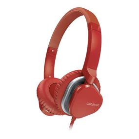 Creative HITZ MA2400 Premium On-Ear Headset for Mobile Devices - Red (51EF0640AA010) (L)
