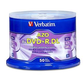 Verbatim DVD+R 8.5GB 8X 50PK Spindle (97000)