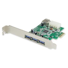 SYBA USB 3.0 3 External and 1 Internal Ports PCI-Express Controller Card - Etron Chipset (SY-PEX20135)