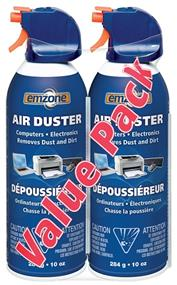 Emzone Air Duster 500 Compressed Gas Duster Double Pack