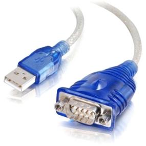 Cables To Go  Port Authority USB to DB9 Serial Adapter - DB-9 Male, Type A Male - 0.46m - Blue (26886)