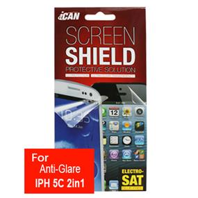 iCAN Anti-Glare Screen Protector for iPhone 5c 2in1