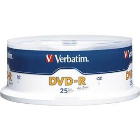 Verbatim - Life Series 25-Pack 16x DVD-R Disc Spindle (97610)
