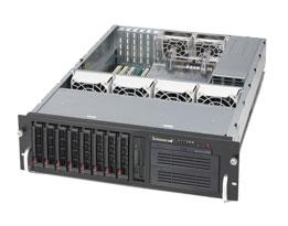 "Supermicro SuperChasis SC833T-653B - 3U - 650W PSU - 8 x 3.5"" SAS/SATA Bays - Black (CSE-833T-653B)"
