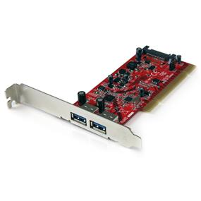StarTech 2Port USB 3.0 PCI SuperSpeed Adapter Card with SATA Power (PCIUSB3S22)