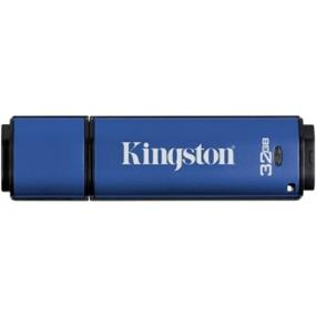 Kingston DataTraveler Vault Privacy 3.0 32GB USB 3.0 Flash Drive with 256bit AES Encryption (DTVP30/32GB)