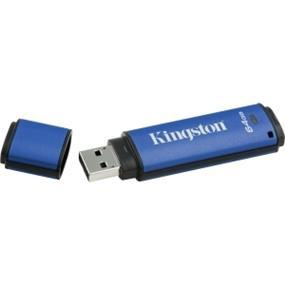 Kingston DataTraveler Vault Privacy 3.0 64GB USB 3.0 Flash Drive with 256bit AES Encryption (DTVP30/64GB)