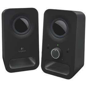 Logitech Z150 (980-000802) -- 2.0 Stereo Speaker System - Midnight Black (Retail Box)