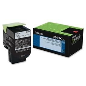 Lexmark 801HK Black High Yield Return Program Toner Cartridge - Black - Laser - 4000 Page (80C1HK0)