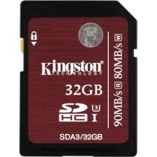 Kingston 32GB (UHS-I Class U3) SDHC Card - Up to 90MB/s Read, 80MB/s Write (SDA3/32GB)