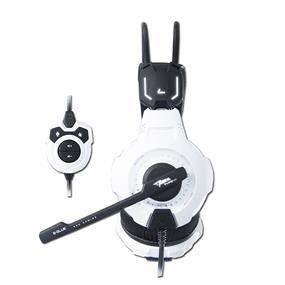 E-Blue Mazer Type-X 7.1 Surround Sound Wired USB Gaming Headset - Black / White (EHS015WH)