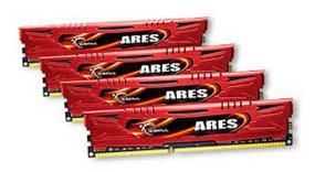 G.SKILL Ares Series 32GB (4x8GB) DDR3 2133MHz CL11 Dual Channel Kit (F3-2133C11Q-32GAR)