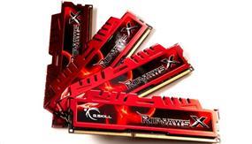 G.SKILL Ripjaws Series 32GB (4x8GB) DDR3 2133MHz CL11 DIMM Memory 1.5V (F3-2133C11Q-32GXL)