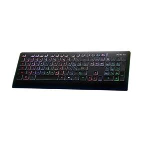 Azio PRISM 7 Colour Backlit Wired Keyboard - Black (KB507)
