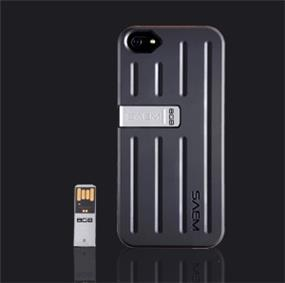 SAEM S7 iPhone SE/5/5S Case with 8GB USB - Tacton Black