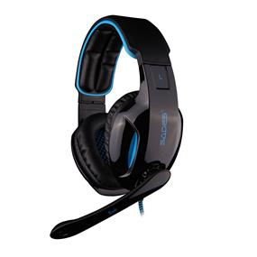 SADES Snuk 7.1 Simulated Surround Sound PC PRO GAMING HEADSET with LED lights-Black + Blue