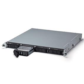 Buffalo TeraStation 3400r 4-Bay 4 TB (4 x 1 TB) RAID 1U Rack Mountable NAS & iSCSI Unified Storage - TS3400R0404