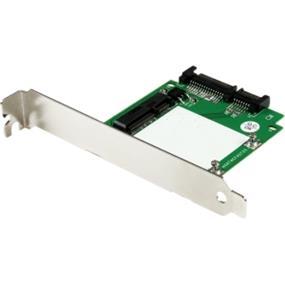 StarTech SATA to mSATA SSD Adapter w/ Full and Low Profile Brackets - SATA to Mini SATA Converter Card (SAT32MSATPEX)