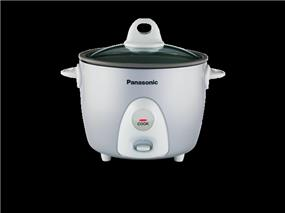 Panasonic SRG06FG 0.6 Litre 3 Cup One Step Automatic Rice Cooker - Silver (SRG06FG)