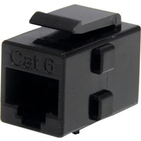 StarTech Cat 6 RJ45 Keystone Jack Network Coupler - F/F - 1 Pack - 1 x RJ-45 Female Network - 1 x RJ-45 Female Network (Black) (C6KEYCOUPLER)