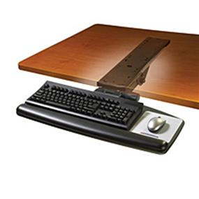 "3M AKT90LE Adjustable Keyboard Tray 23"" x 25.5"" x 12"" - Black"