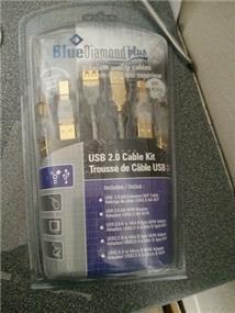 BlueDiamond Retail USB 2 Connection Kit CL, 6ft
