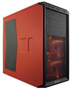 Corsair Graphite Series 230T Orange Windowed with Orange LED (CC-9011038-WW)