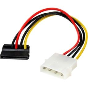 "StarTech 6in 4 Pin Molex to Left Angle SATA Power Cable Adapter - 6"" - LP4 - SATA (SATAPOWADPL)"
