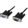 StarTech Black DB9 RS232 Serial Null Modem Cable F/M - Serial (Black) - 3.33 ft. (SCNM9FM1MBK)