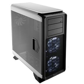 Corsair Graphite Series 760T White Steel / Plastic ATX Full Tower Windowed Gaming Case with two 140mm white  LED fans (CC-9011074-WW)