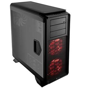 Corsair Graphite Series 760T Black Steel / Plastic ATX Full Tower Windowed Gaming Case with two 140mm  Red LED fans (CC-9011073-WW)