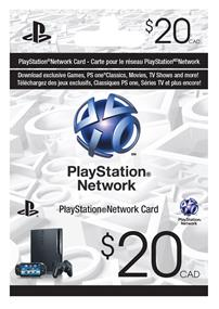 Sony PlayStation PSN Card - $20