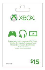 Microsoft Xbox Live Card - $15