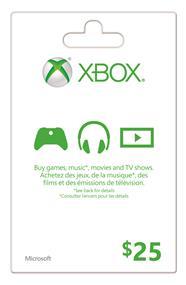Microsoft Xbox Live Card - $25