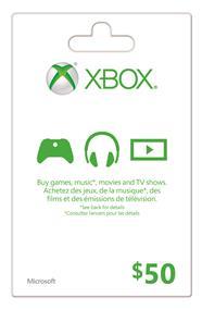 Microsoft Xbox Live Card - $50