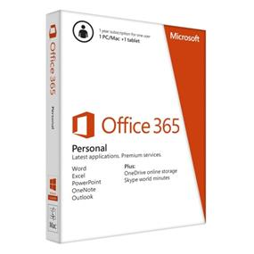 Microsoft Office 365 Personal 1 Year Subscription English Medialess (QQ2-00597)