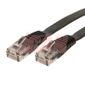 iCAN Flat Cat5e 350Mhz EIA/TIA-568B UL FT4 CM Type Networking LAN cable - 5ft (Black)(C5EF-005BLK)