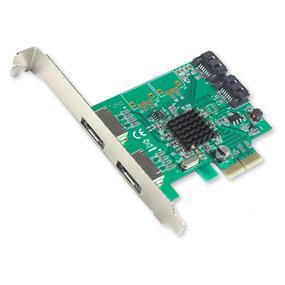 SYBA (I/O Crest) SATA III 2 External 2 Internal 4-port PCI-e Version 2.0, x2 Slot Controller Card, HyperDuo, Software RAID (SI-PEX40058)