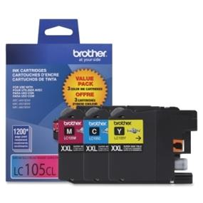 Brother LC-105 XXL Tri-Color  Ink Cartridge (LC1053PKS)