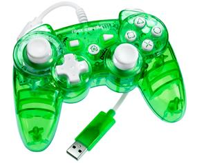 PDP PC/PS3 - Rock Candy Gaming Controller - Green (PL6432GR)