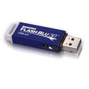 Kanguru FlashBlu30 8GB Aluminum USB 3.0 Flash Drive w/ Write Protection Switch Upto 145MB/s Read, 25MB/s Write (ALK-FB30-8G)