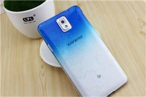 iCAN Samsung Note 3 Raindrop Design Case (Blue)